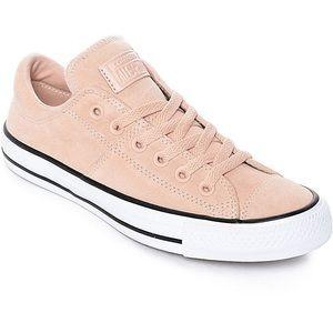 pink suede converse